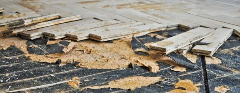 oude houten vloer vervangen door beton vloer